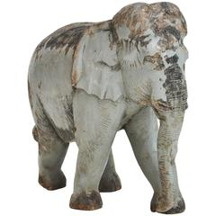 Charming Vintage Carved Elephant