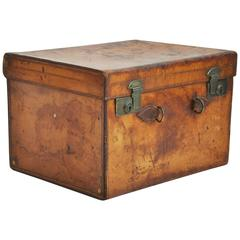 Large English Leather Hatbox