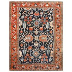 Antique Persian Heriz Serapi Carpet