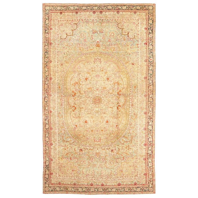 Antique Indian Agra Rug For Sale At 1stdibs: Large Antique Indian Agra Rug For Sale At 1stdibs