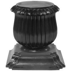 Black Moroso Capitello Pedestal End Table by Rajiv Saini, Italy