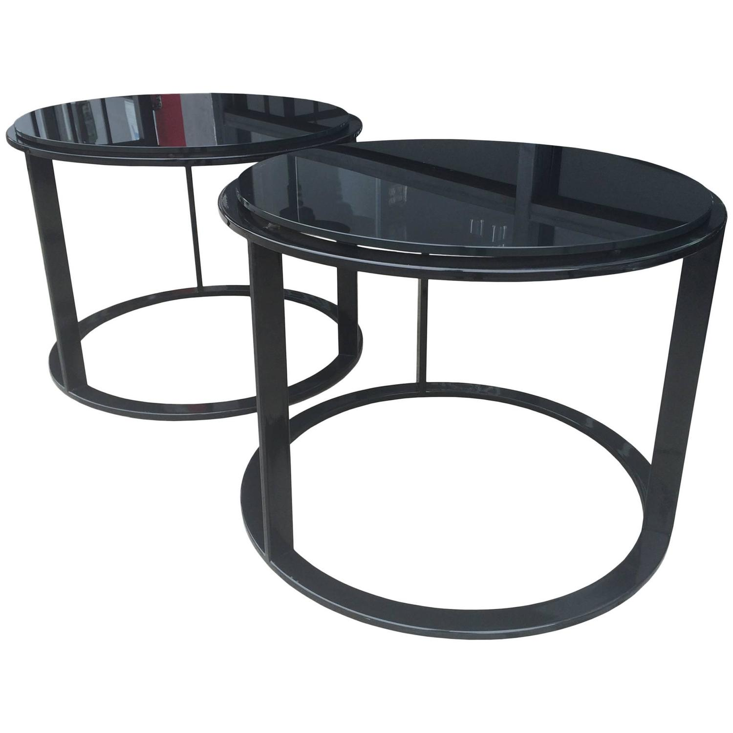 "Pair of ""Mera"" Side Tables by Antonio Citterio for B&B Italia For"