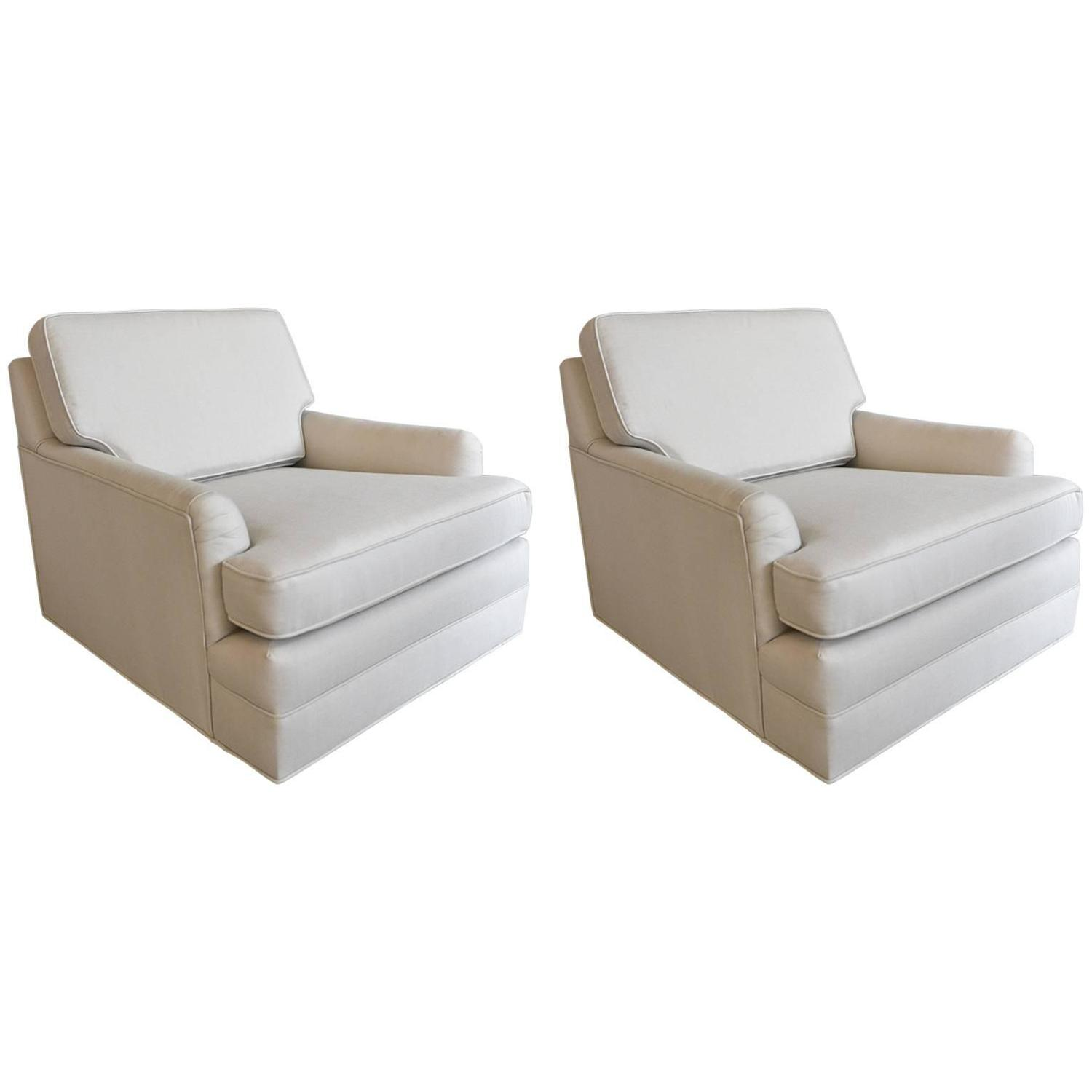 Pair of Harvey Probber Floating Lounge Chairs For Sale at 1stdibs