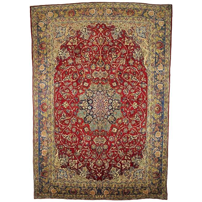 Traditional Persian Isfahan Rug