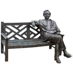 Stunning Lifesize Bronze Statue of Albert Einstein on Bench
