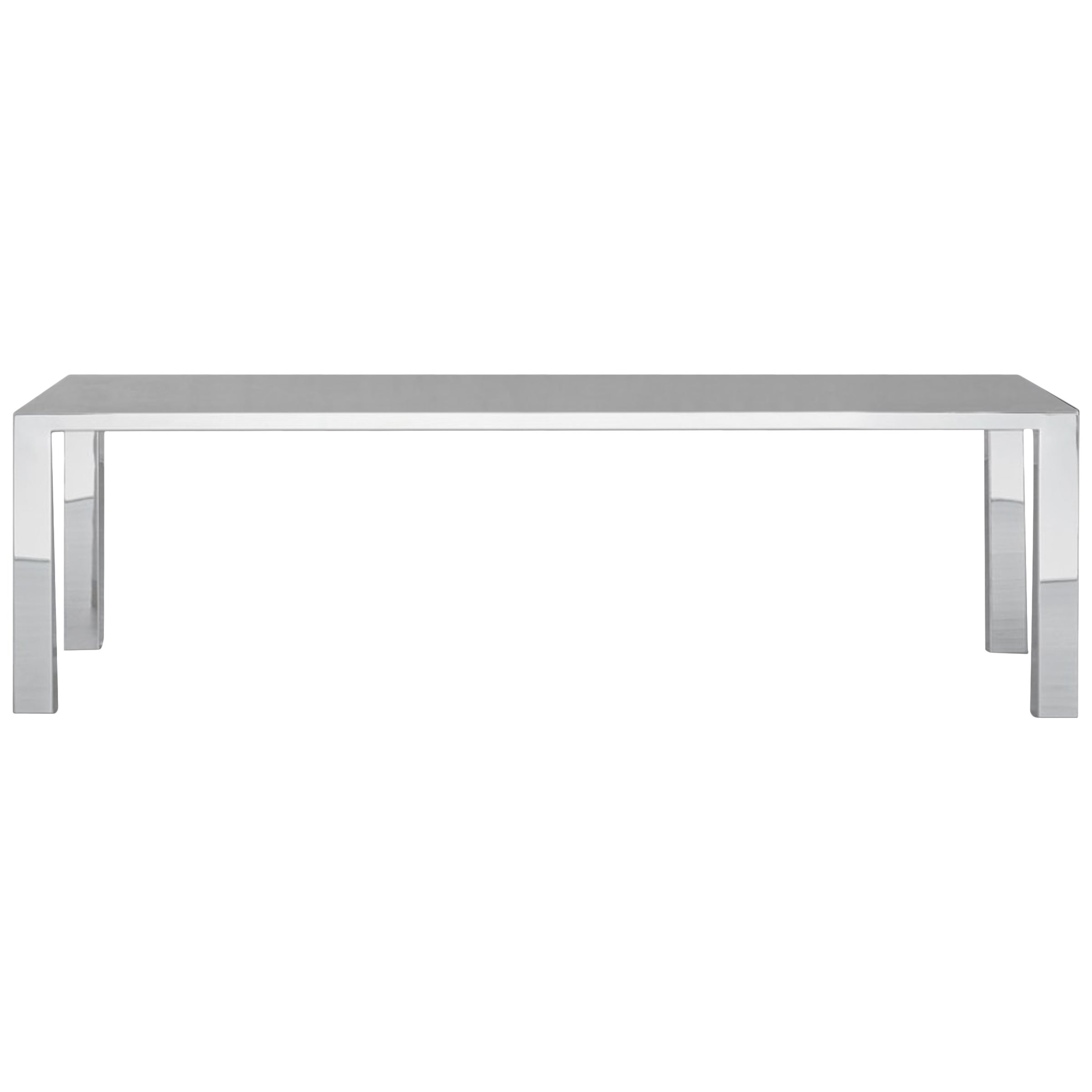 Sharp Mirror Table in Polished Stainless Steel
