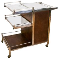 Amazing Original Bar Cart by Jacques Adnet, Art DéCo/Modernism, circa 1935