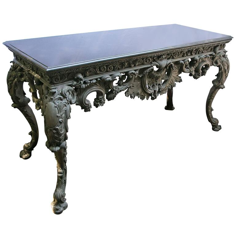 Incredible Bronze Center Table with Marble Top