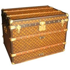 1920s Louis Vuitton Monogramm Canvas Steamer Trunk