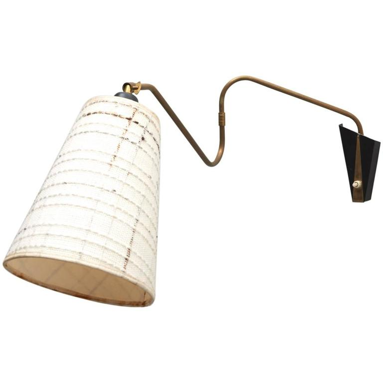 Wall Sconces For Reading : Adjustable Wall Sconce or Reading Lamp, 1950s at 1stdibs