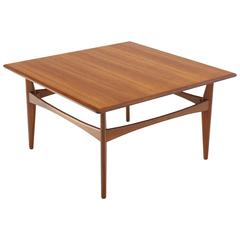 Danish Mid-Century Modern Teak Square Coffee Side Table