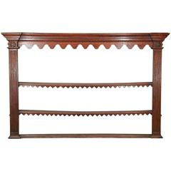 George III Period Oak Plate Rack