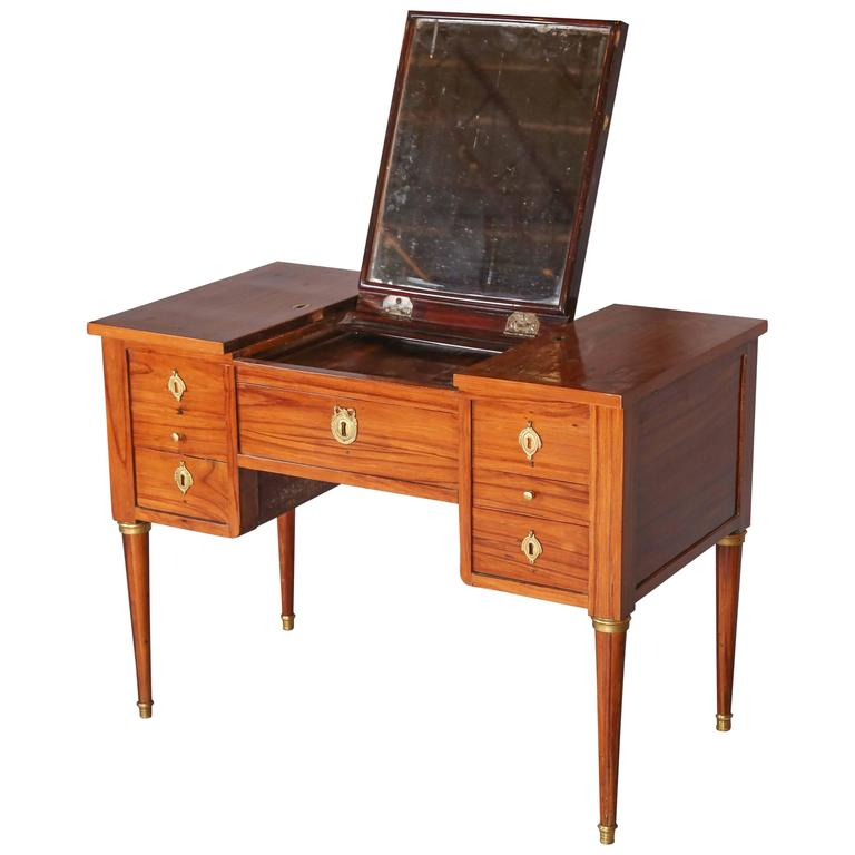 Kingwood Louis Xvi Dressing Table With Desk Drawer For