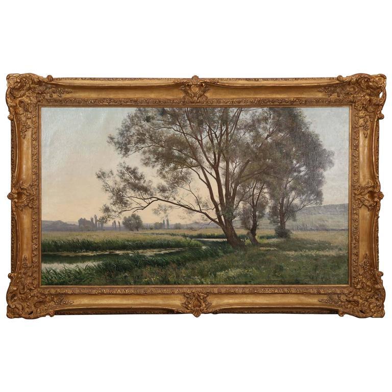 """""""Un Matin En Franche Comte Oil Painting by Marie Leonce Vaysse, 1881"""