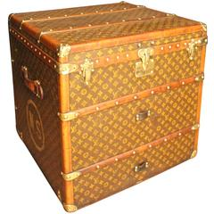 1920s Louis Vuitton Cube Steamer Trunk