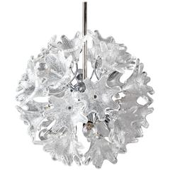VeArt Scorzè Glass and Chrome Sputnik Chandelier, Circa 190