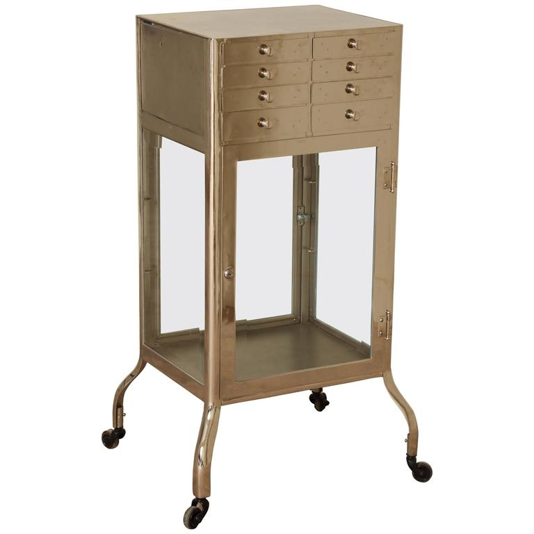 Industrial Chrome Cabinet 1