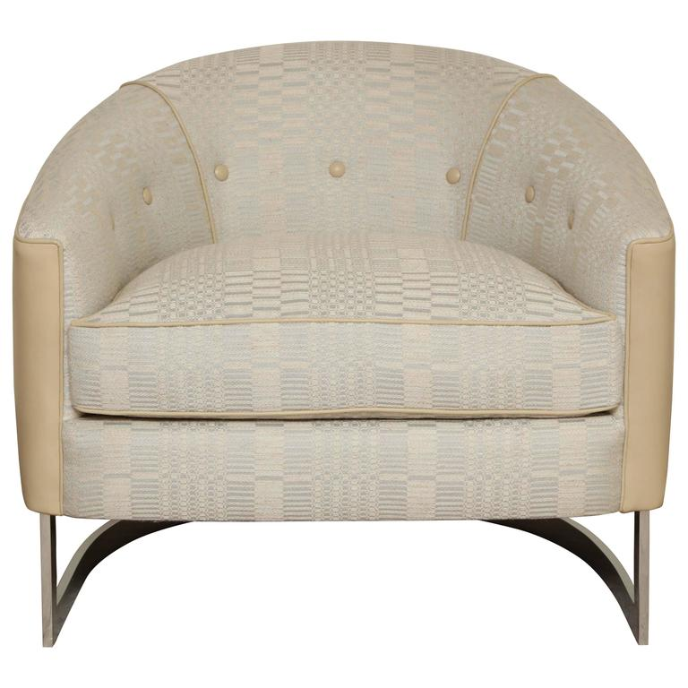 Barrel Back Chair by Selig For Sale