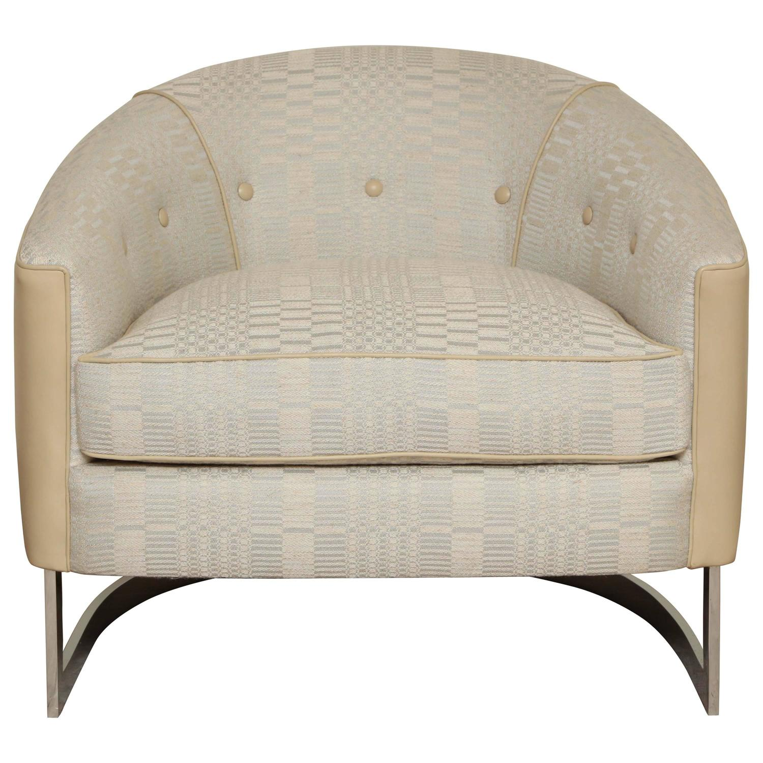 Barrel Back Chair By Selig For Sale At 1stdibs