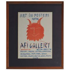 1961 Original Lithograph Exhibition Poster by Picasso