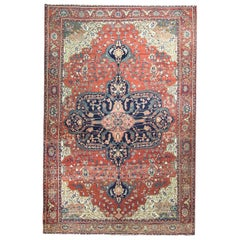"Antique Persian Feraghan Sarouk Carpet, 7' x 10'6"""