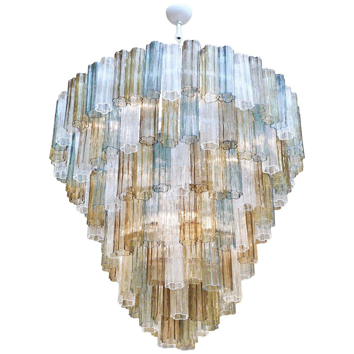 Mazzega style multicolored murano glass chandelier for sale at 1stdibs aloadofball Choice Image