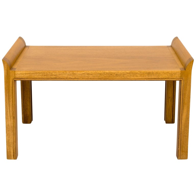 Tommi Parzinger 1950s Mahogany Bench For Sale