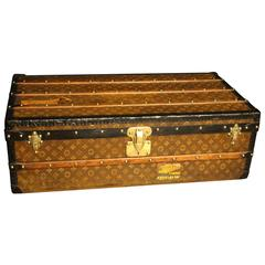 1890s Louis Vuitton Tisse Monogram Steamer Trunk