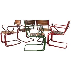 Mid Century Modern Vintage Metal Chairs by Max Fellerer Eugen Wörle attrAustria