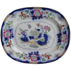 Mason's (F Morley & Co) Ironstone Platter hand painted Chinoiserie, Ca 1850