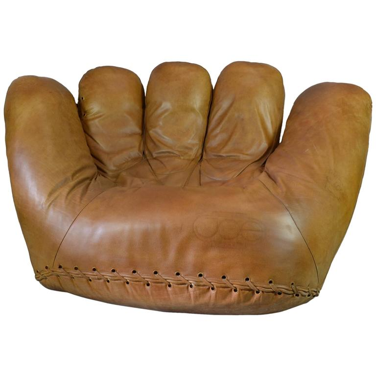 Joe baseball glove lounge chair at 1stdibs Shameless karen and joe sofa