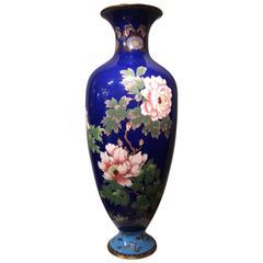 Large Meiji Period Vase, Cloisonné Enamel, Japan, 1900-1920
