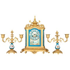 Se?vres Clock Garniture