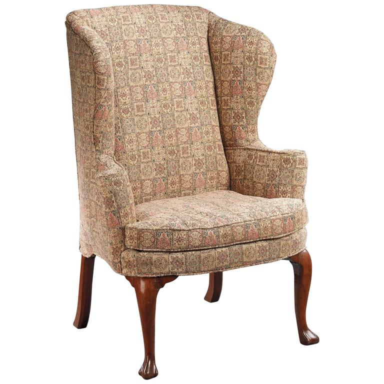 Irish 18th Century Wingback Chair For Sale at 1stdibs