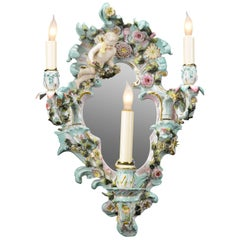 Meissen-Style Porcelain Wall Sconce