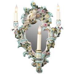 Meissen Porcelain Wall Sconce
