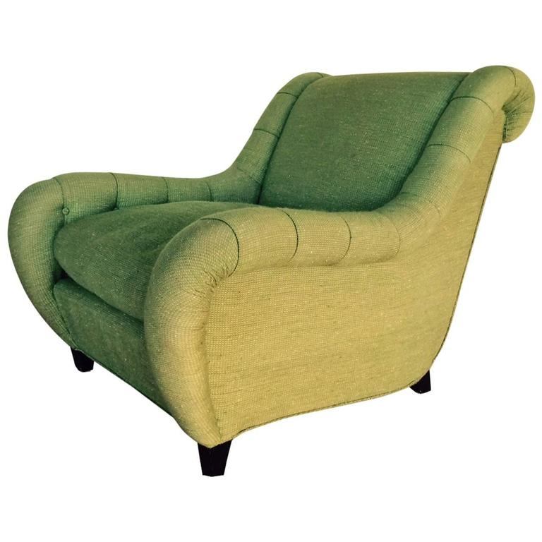 Rare James Mont Upholstered Lounge Chair