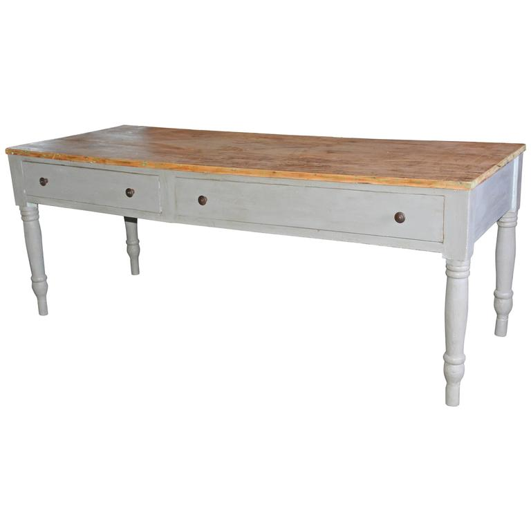 Country Work Table Or Kitchen Island For Sale At 1stdibs