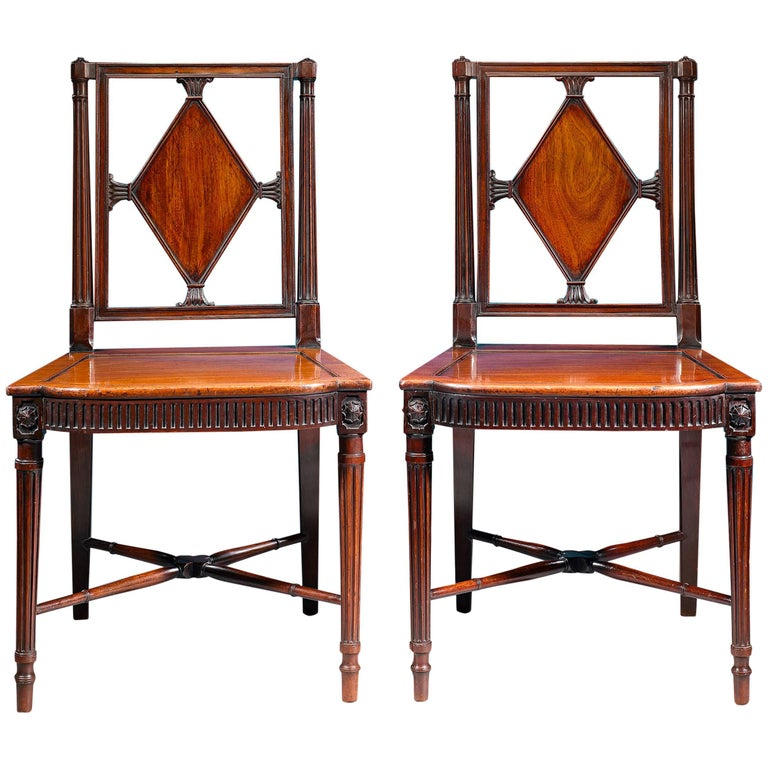 George III Mahogany Hall Chairs For Sale