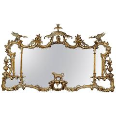 Carved Giltwood Chinoiserie Mirror