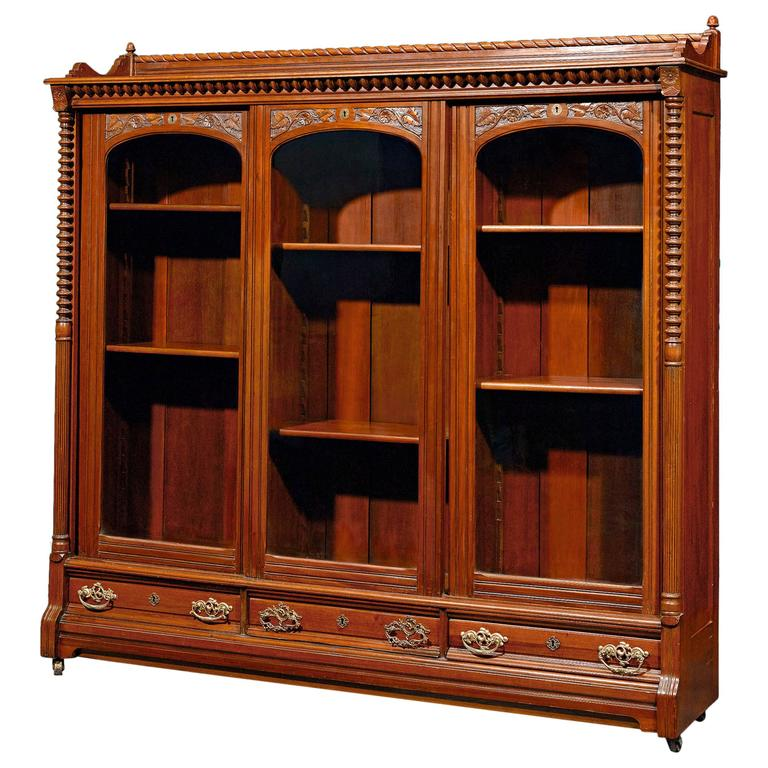 English Mahogany Bookcase For Sale At 1stdibs
