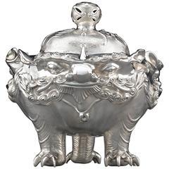 Meiji Period Japanese Silver Censer