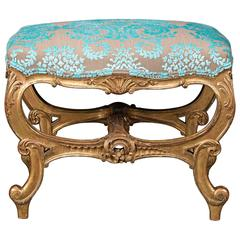 18th Century Rococo Stool in the Manner of John Linnell