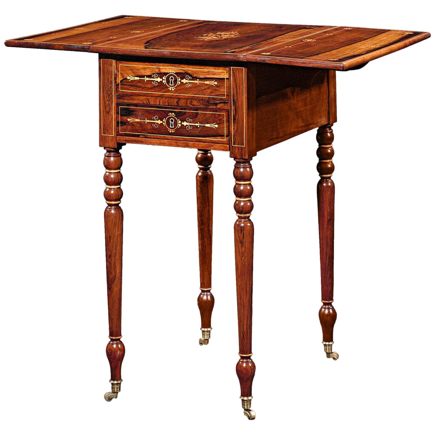 Charles marquetry side table at stdibs