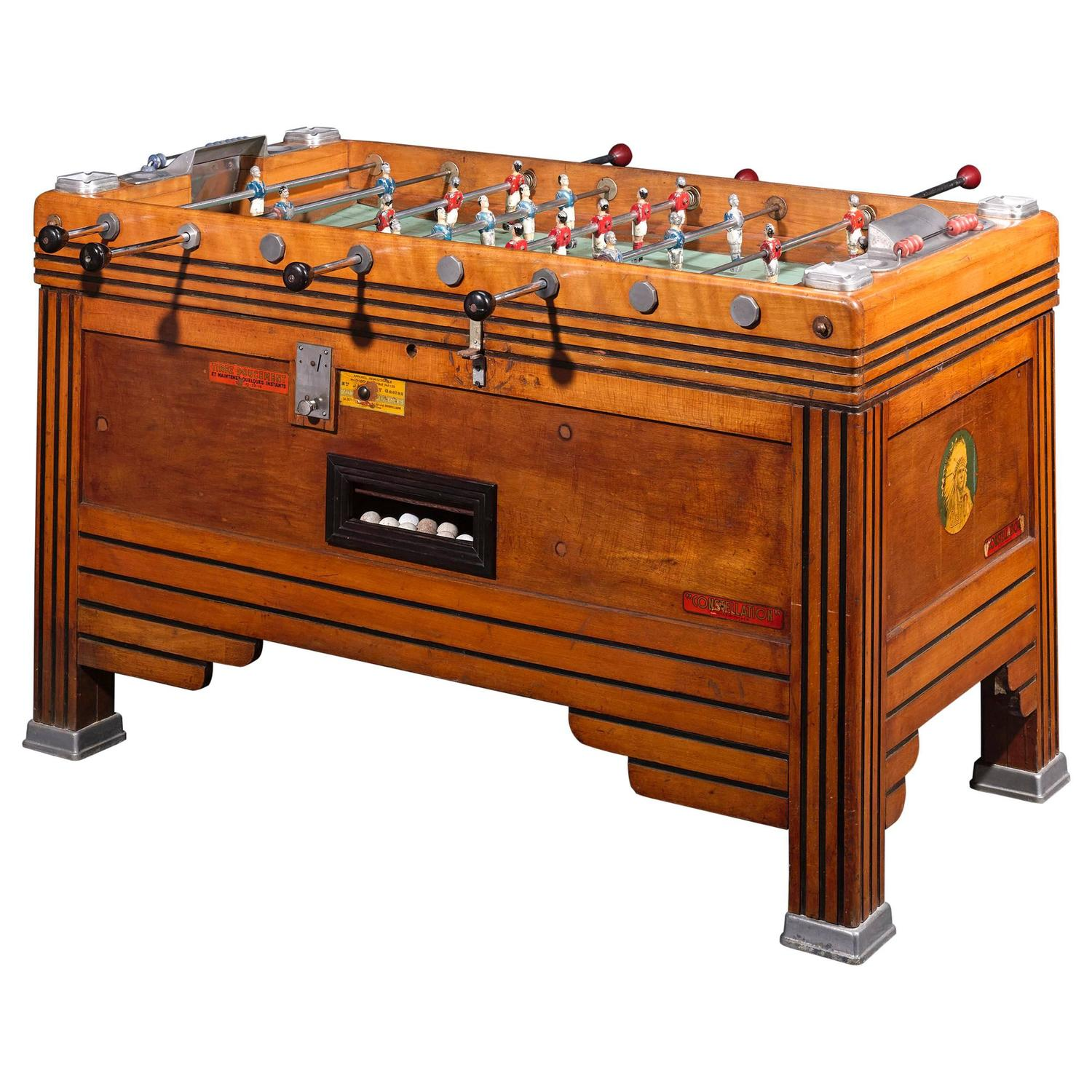 Vintage French Foosball Game Table at 1stdibs