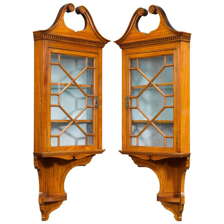 Victorian Corner Cabinets, 19th Century