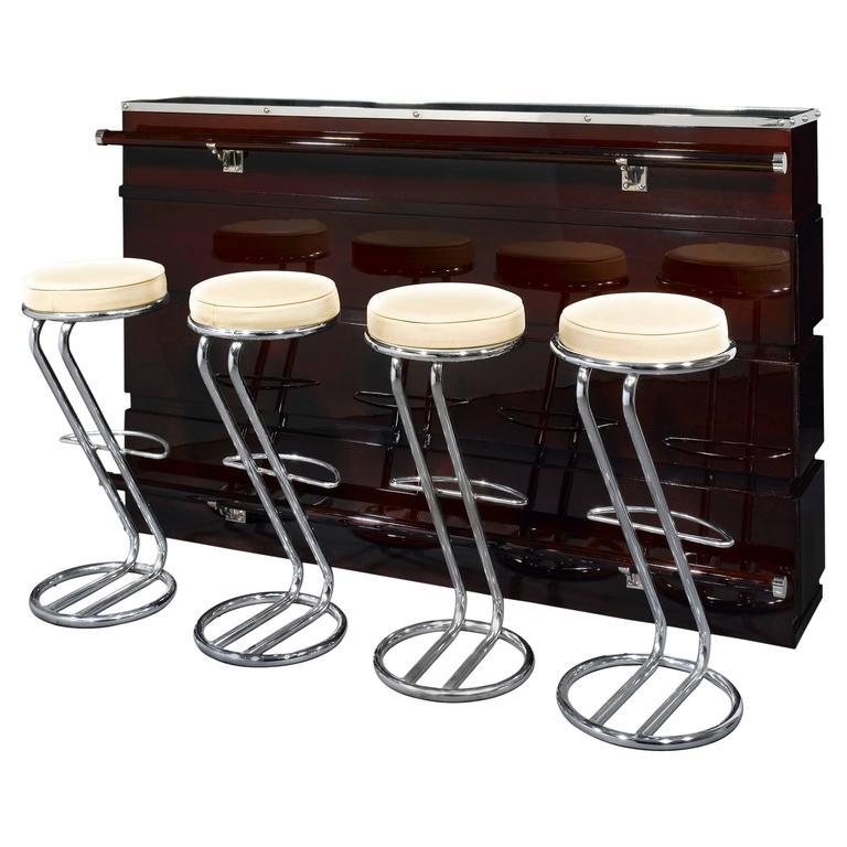 Art Deco Bar and Stools