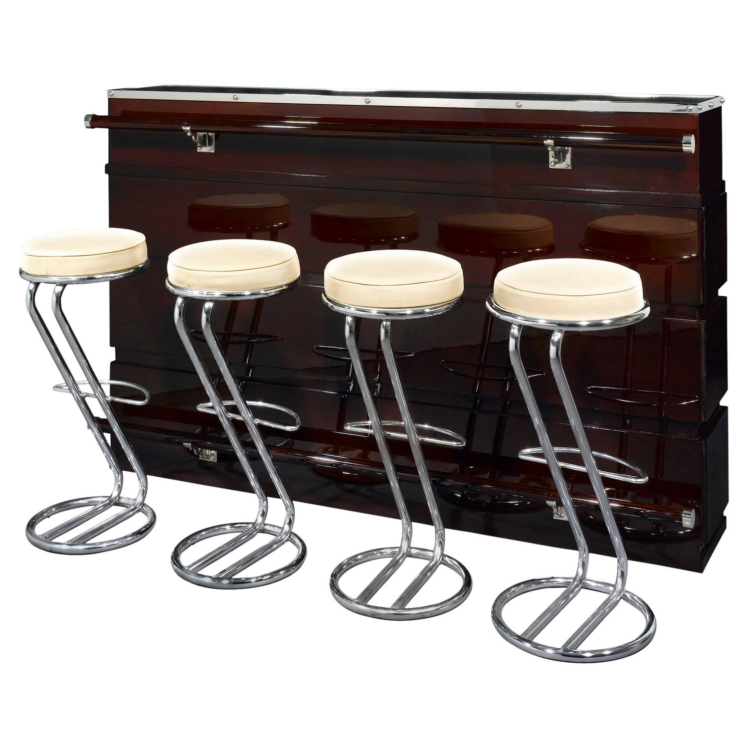 art deco bar and stools for sale at 1stdibs. Black Bedroom Furniture Sets. Home Design Ideas