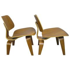 Charles and Ray Eames LCW Chairs, Pair