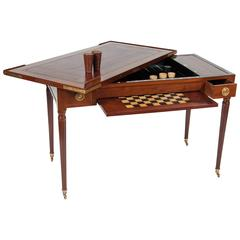 Fine Louis XVI Mahogany and Inlaid Tric Trac Table